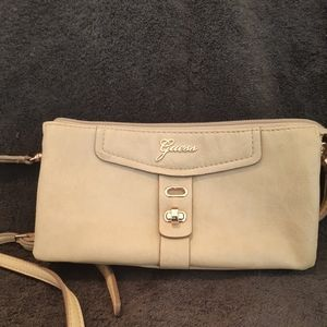 Soft tan leather GUESS purse